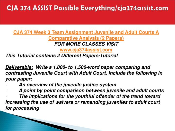 CJA 374 ASSIST Possible Everything/cja374assist.com