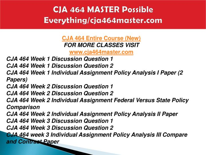 Cja 464 master possible everything cja464master com1
