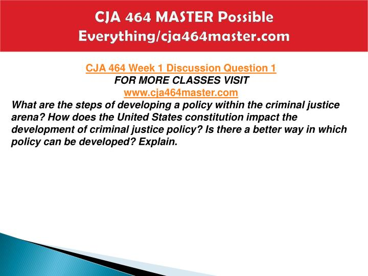 Cja 464 master possible everything cja464master com2