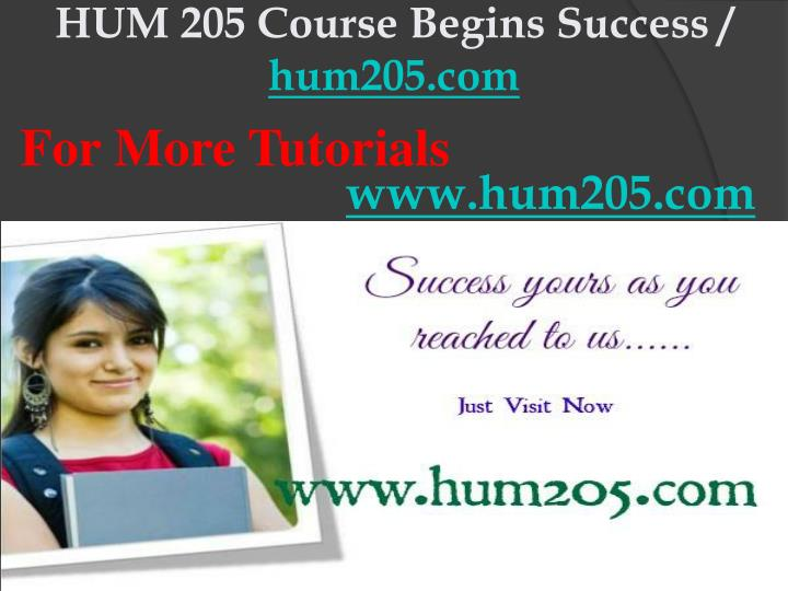 Hum 205 course begins success hum205 com