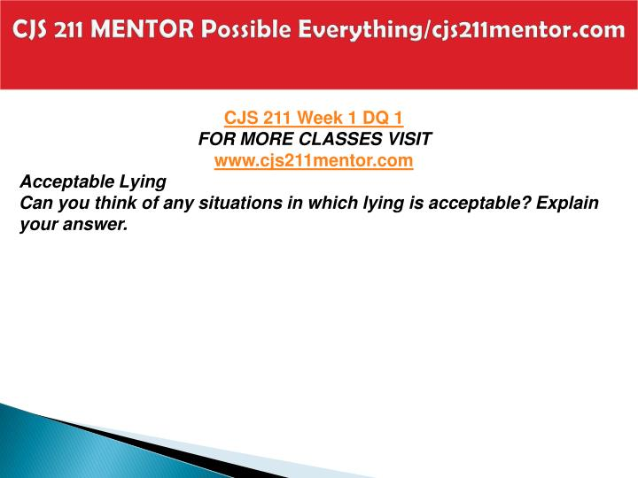 Cjs 211 mentor possible everything cjs211mentor com2