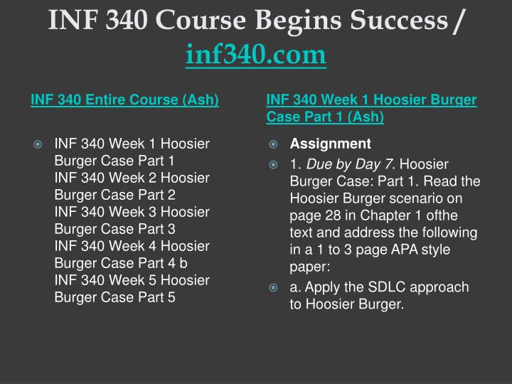 Inf 340 course begins success inf340 com1