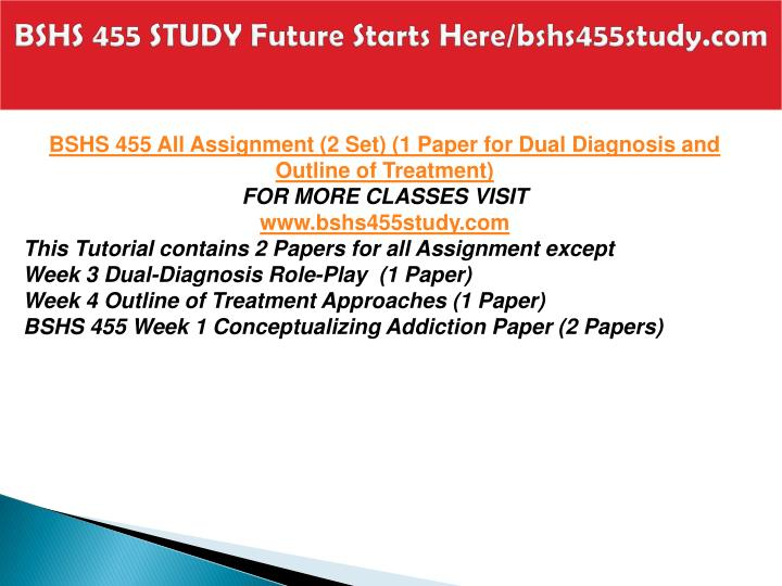 Bshs 455 study future starts here bshs455study com1
