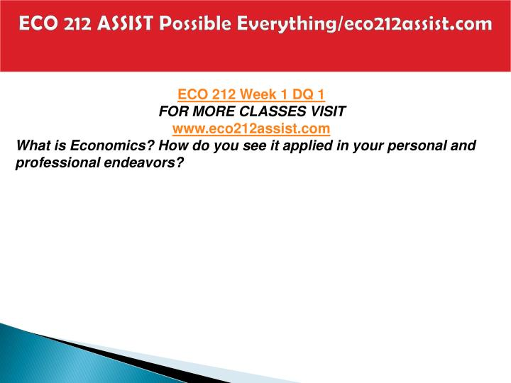 Eco 212 assist possible everything eco212assist com2