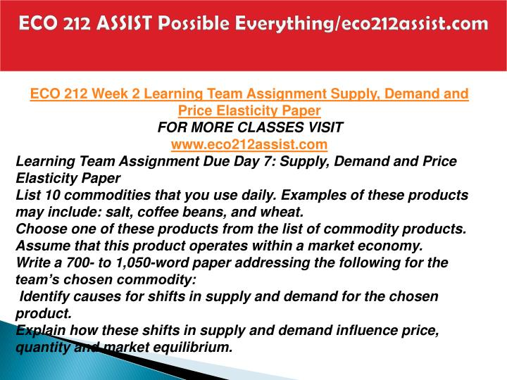 ECO 212 ASSIST Possible Everything/eco212assist.com