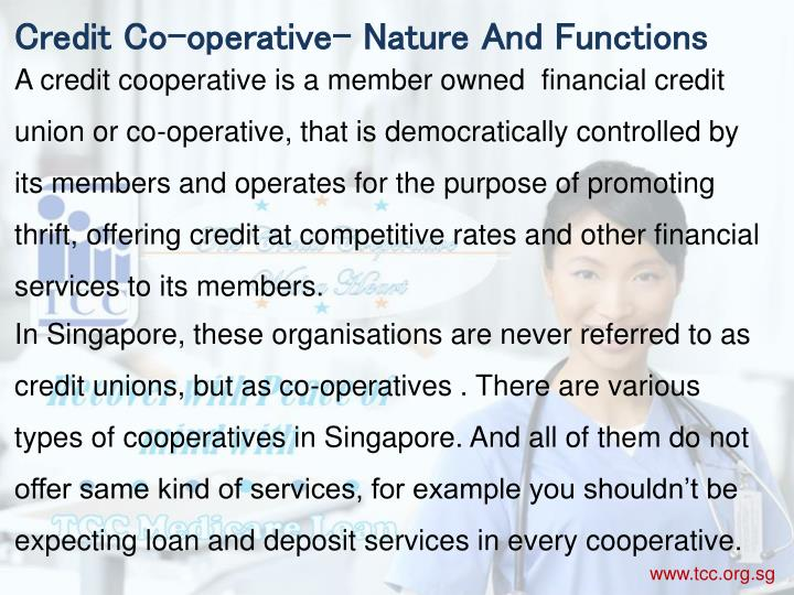 Credit Co-operative- Nature And Functions