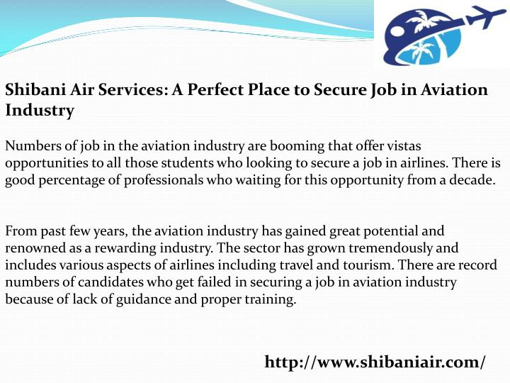 Shibani Air Services: A Perfect Place to Secure Job in Aviation Industry