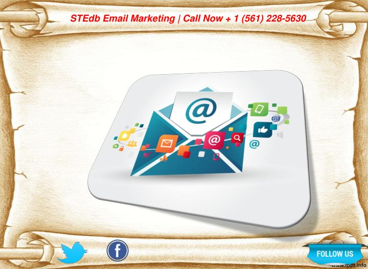 STEdb Email Marketing | Call Now + 1 (561) 228-5630