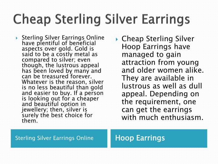 Cheap sterling silver earrings