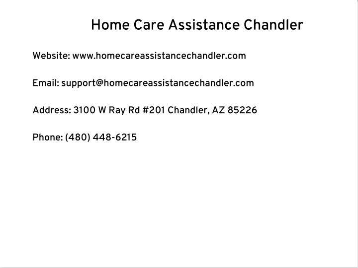 Home Care Assistance Chandler