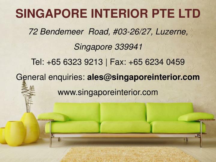 SINGAPORE INTERIOR PTE LTD