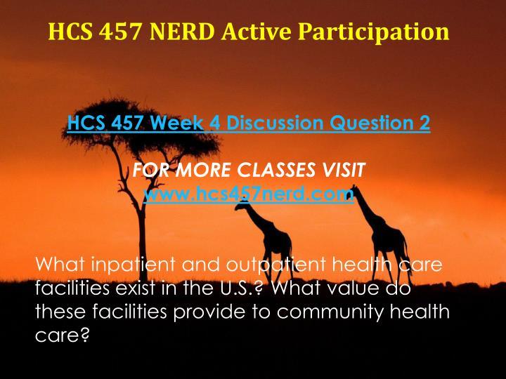 HCS 457 NERD Active Participation