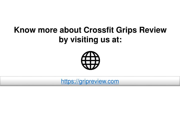 Know more about Crossfit Grips Review