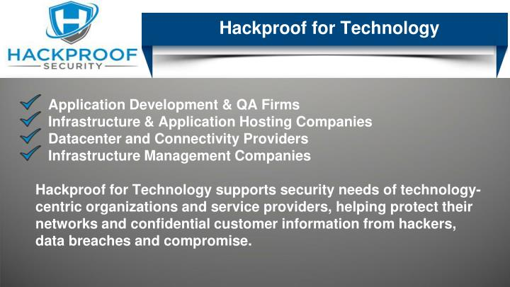 Hackproof for Technology