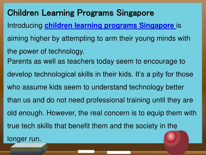 Children Learning Programs Singapore