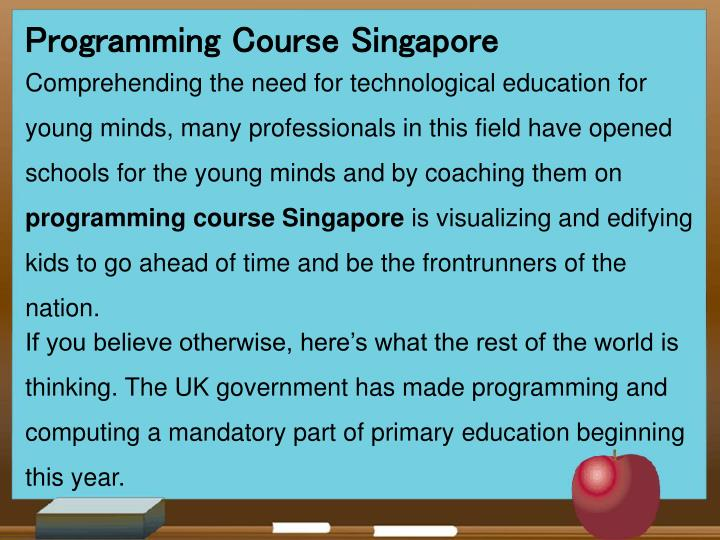 Programming Course Singapore