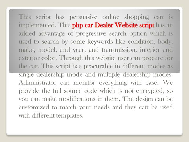 This script has persuasive online shopping cart is implemented. This