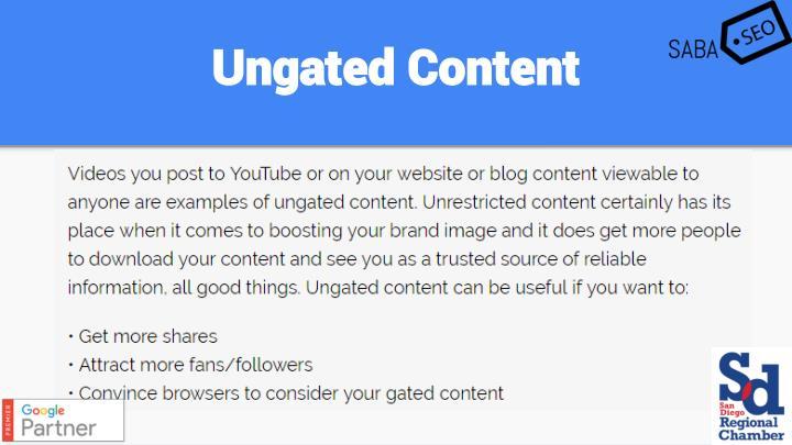 Ungated Content