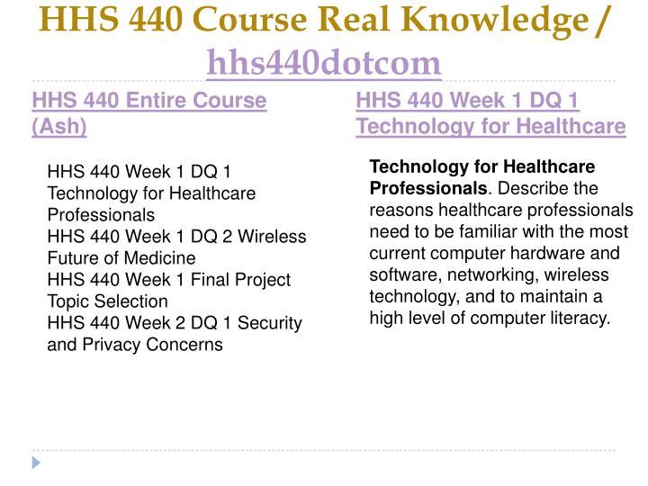 Hhs 440 course real knowledge hhs440dotcom1