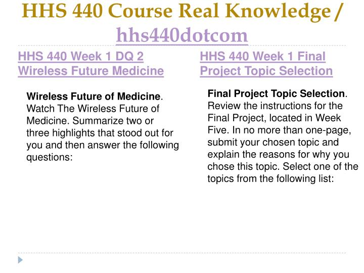 Hhs 440 course real knowledge hhs440dotcom2