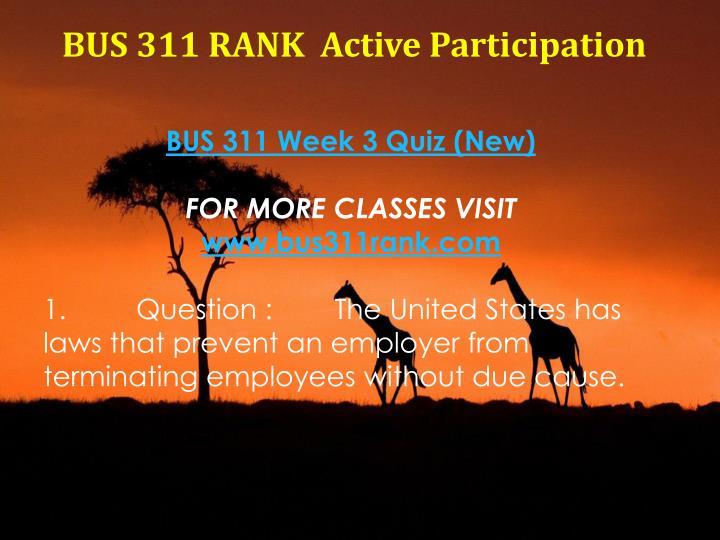 BUS 311 RANK