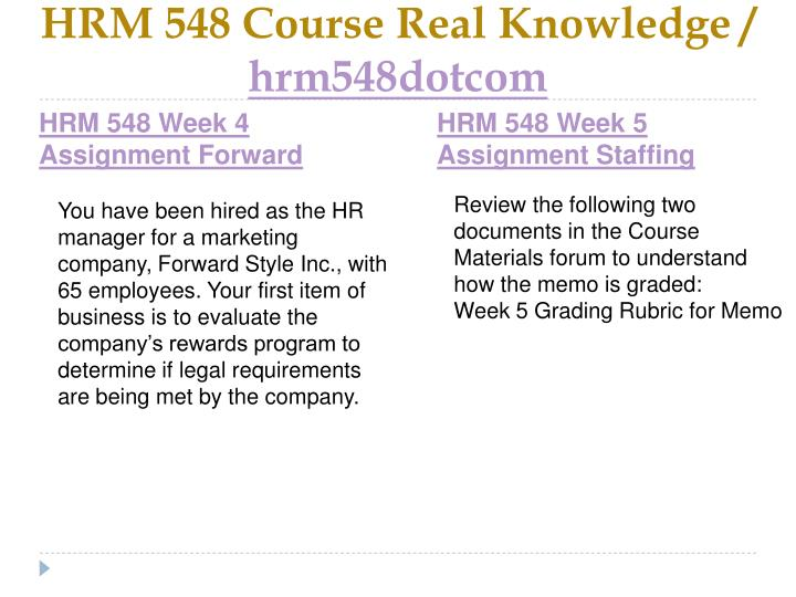 HRM 548 Course Real Knowledge /