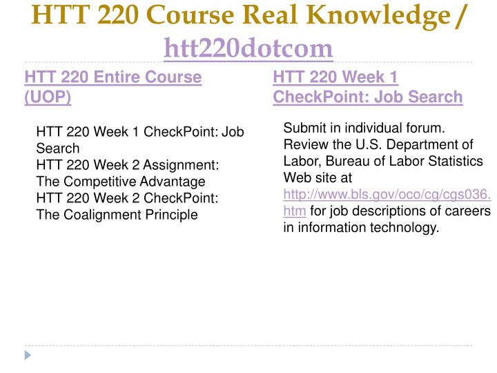 Htt 220 course real knowledge htt220dotcom1