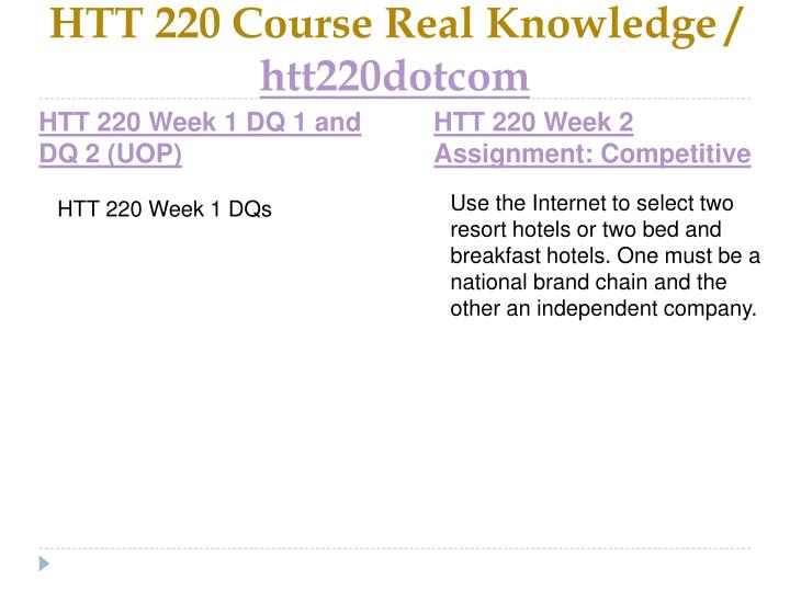 Htt 220 course real knowledge htt220dotcom2