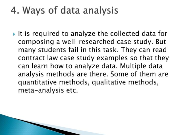 4. Ways of data analysis