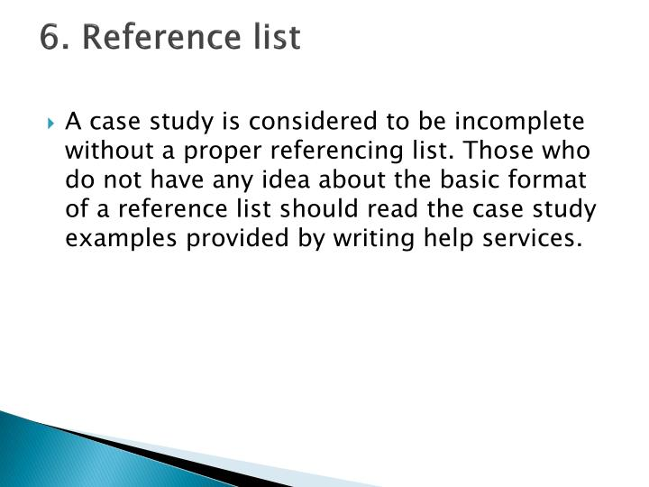 6. Reference list