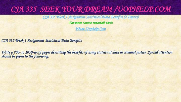 Cja 335 seek your dream uophelp com2