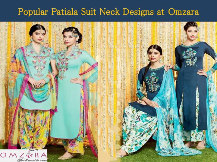 Popular patiala suit neck designs at omzara