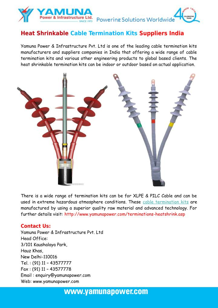 Heat Shrinkable Cable Termination Kits Suppliers India