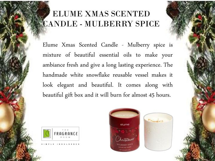 ELUME XMAS SCENTED CANDLE - MULBERRY SPICE