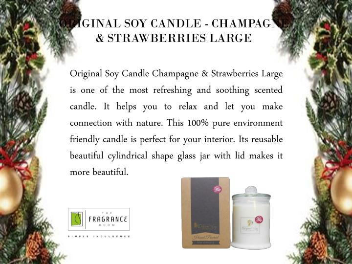 ORIGINAL SOY CANDLE - CHAMPAGNE & STRAWBERRIES LARGE