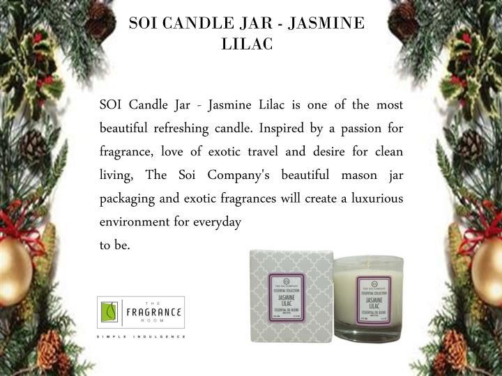 SOI CANDLE JAR - JASMINE LILAC