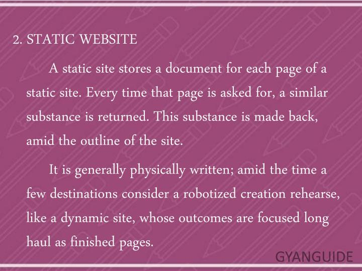 2. STATIC WEBSITE