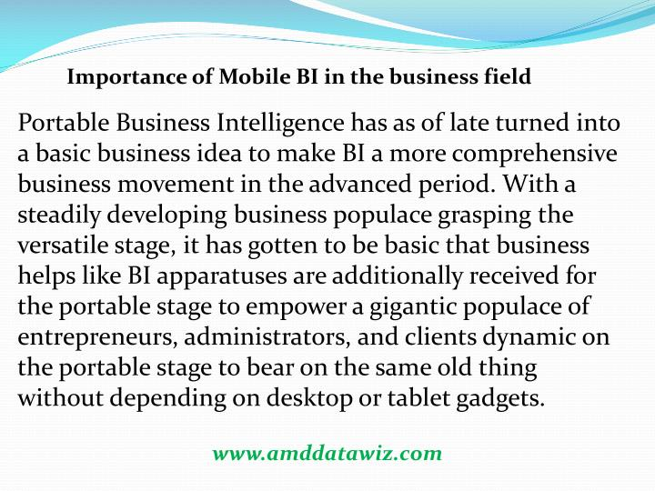 Importance of Mobile BI in the business field