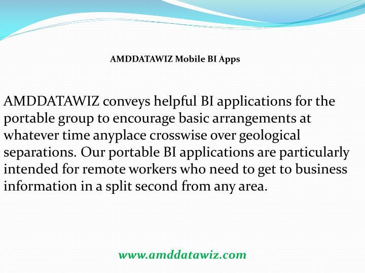 AMDDATAWIZ Mobile BI Apps