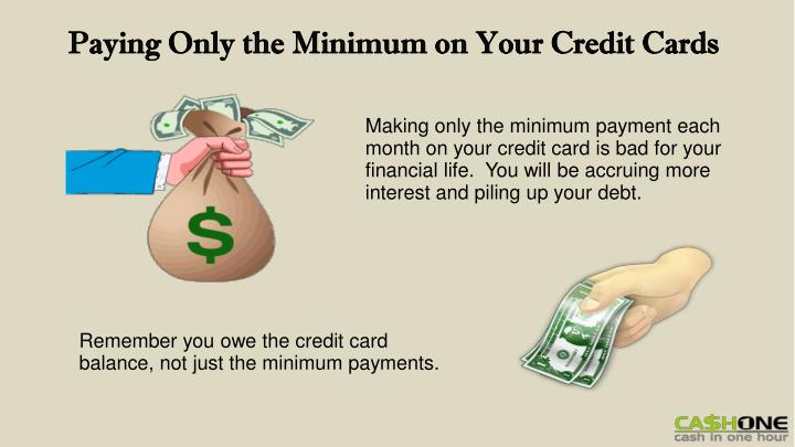 Paying Only the Minimum on Your Credit Cards