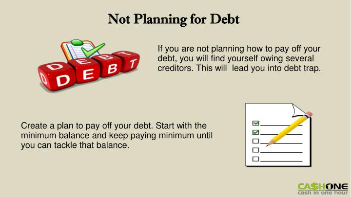 Not Planning for Debt