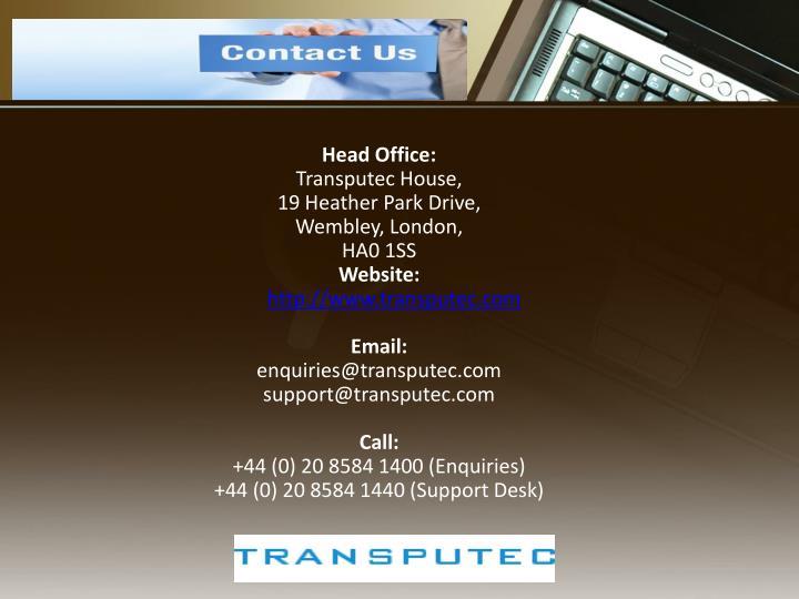 Head Office: