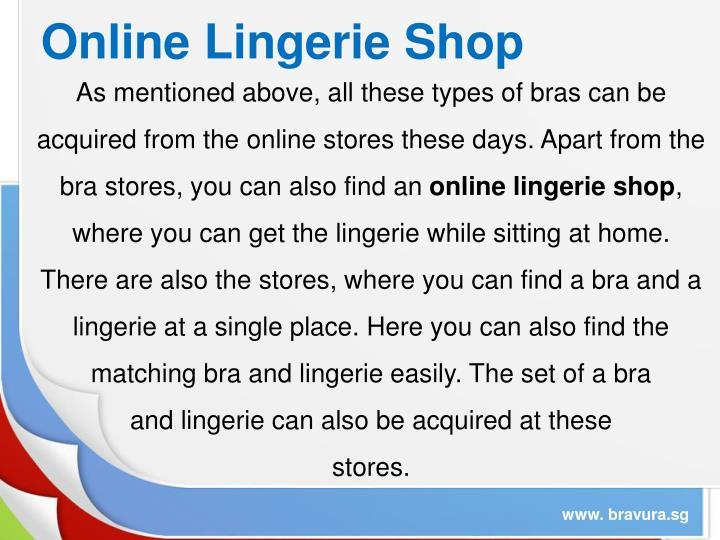 Online Lingerie Shop