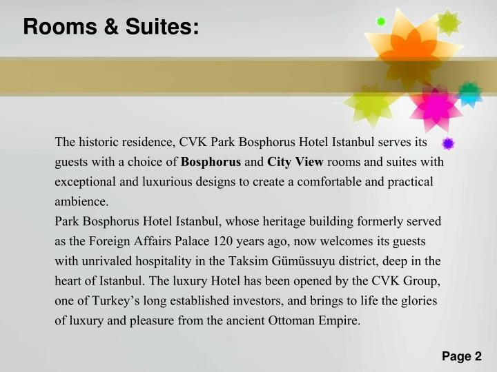 Rooms & Suites: