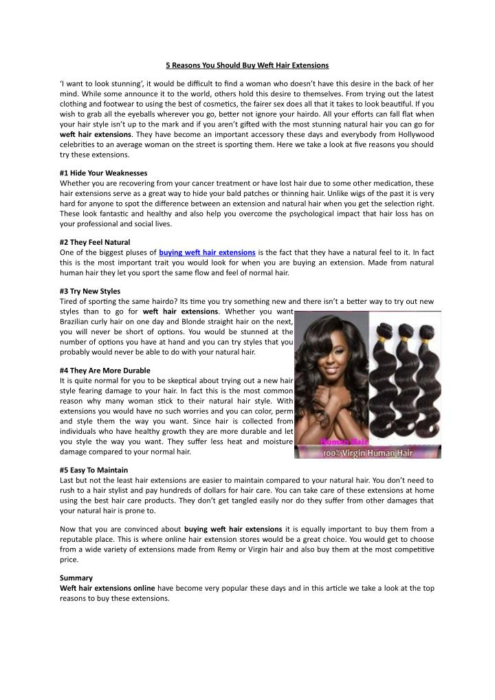 5 Reasons You Should Buy Weft Hair Extensions