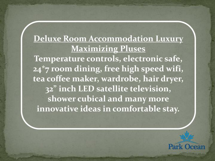 Deluxe Room Accommodation Luxury Maximizing