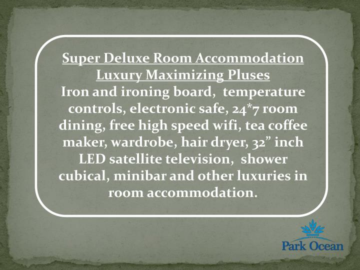 Super Deluxe Room Accommodation Luxury Maximizing