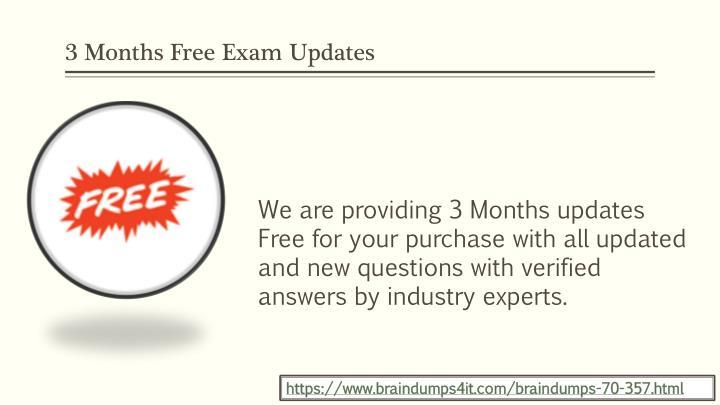 3 Months Free Exam Updates