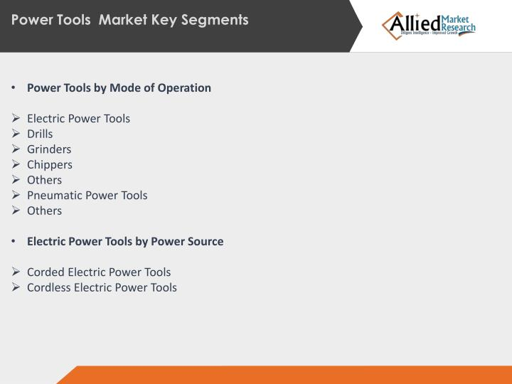 Power Tools  Market Key