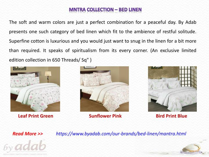 MNTRA Collection – Bed Linen